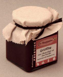 Confiture Prestige de Griottes au Chocolat et au Kirsch 320g