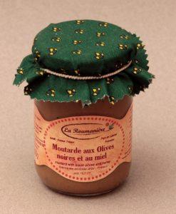 Moutarde au Miel et aux Olives noires 200g