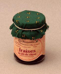 Confiture de Fraises au jus de citron 125g
