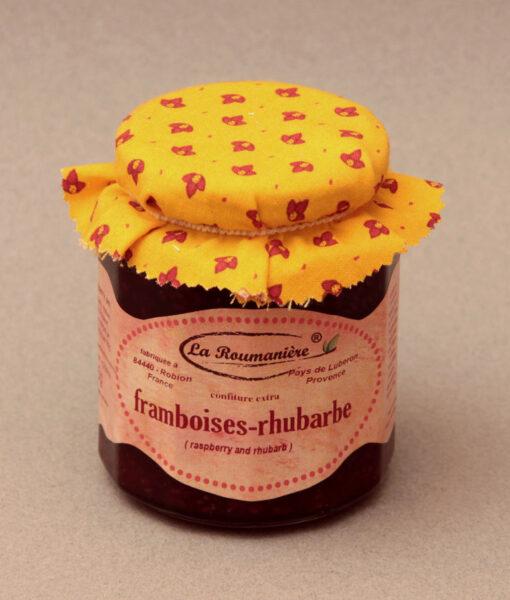 confiture_335g_framboises_rhubarbe