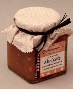 Confiture Prestige d'Abricots aux Noisettes et à la vanille 320g